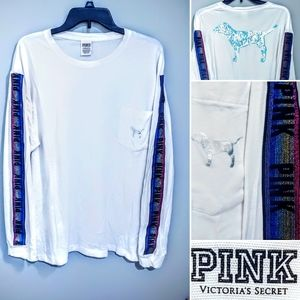 VS PINK BLING RAINBOW Campus tee